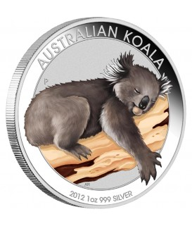 1 x 1 Oz Silber Australian Koala color 2012