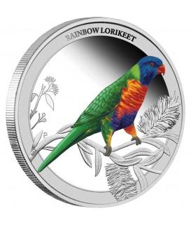 1 x Silber Regenbogenpapagei 2013--color