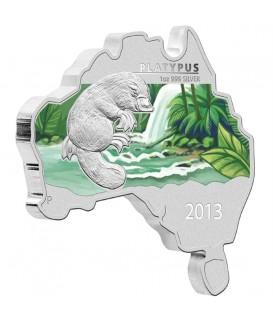 1 x 1 Oz Silber Australian Schnabeltier color