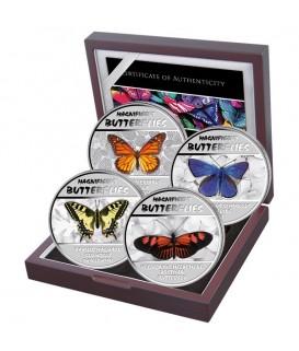 4 x 30 Fr Prächtige Schmetterlinge Silber 2014