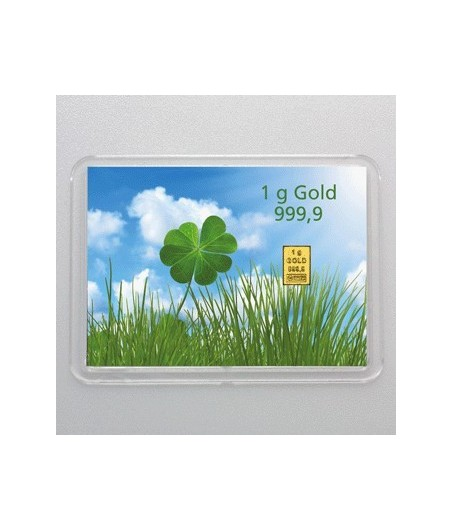 1 g Goldbarren Viel Glueck