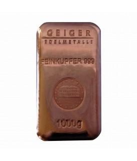 1 x 1 kg Kupferbarren