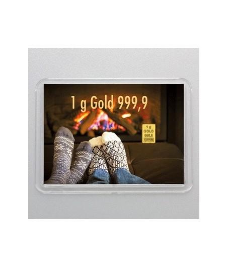 1 g Goldbarren Gold statt Socken